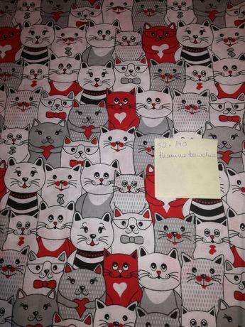 Materiał do szycia tkanina bawełna koty pół metra