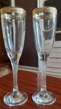 Бокали для шампанського, вина. 2 шт. Висота 21 см.
