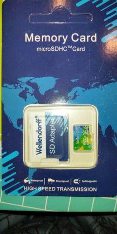 "Карта памяти MicroSDHC ""Wellendorf"" 16Gb + SD адаптер (10class)"