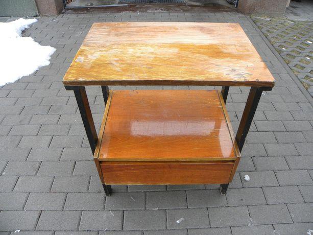 Szafka / stolik RTV, PRL, do renowacji, lata 70.