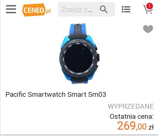 Smartwatch pacific sm03.