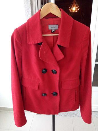 casaco traçado vermelho Mango