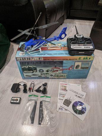 Радиоуправляемый вертолет hunter, полный комплект