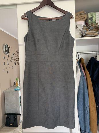 Sukienka h&m prosta szara popielowa 42 xl