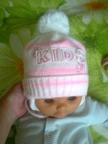Зимняя шапка для девочки.