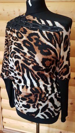 Нарядная леопардовая кофта