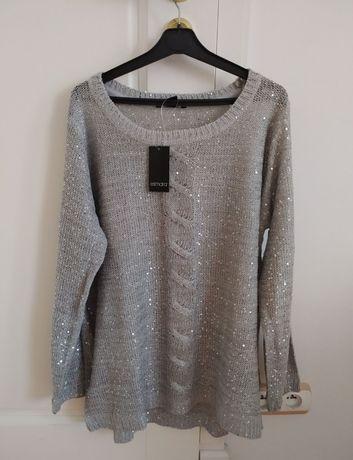 Nowy ( z metkami ) sweter z cekinami XL