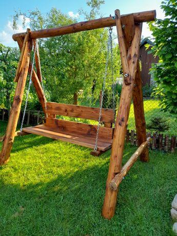 Drewniana Huśtawka ogrodowa