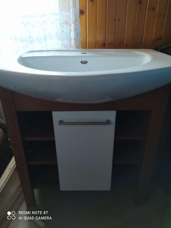 Szafka lazienkowa z umywalka, szer. 80 cm