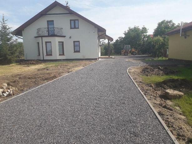 Budowa dróg i parkingów z kruszywa utwardzanie terenu kompleksowo