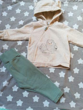 Komplet bluza spodnie jesień zima H&M 74