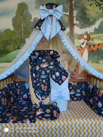 Полный набор,подушечка ,кроватка ,постельное,конверт,кокон,матрас
