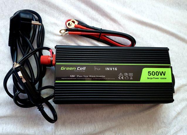 Przetwornica GREEN CELL 12V/230V 500W/1000W