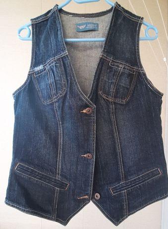 жилет джинсовый Arizona шорты Versace версаче