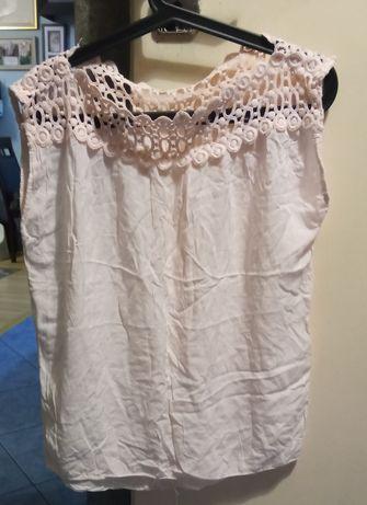 Zwiewna bluzeczka blady róż roz.M