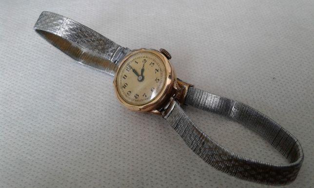 Часы женские позолота 20мк браслет серебро 30-40г.г. Германия