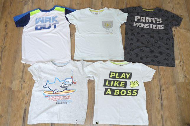 T-shirt bluzki 128 Reserved Cool Club Endo krótki rękaw bluzka szorty