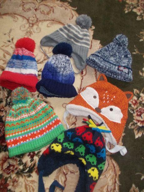 зимние фирминние шапки 1-3 года