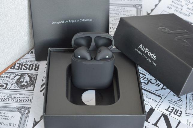Чёрные матовые беспроводные наушники Airpods 2 wireless tws i90000