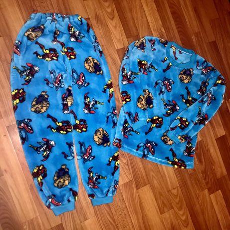 Теплющая махровая  пижама на 7-9 лет