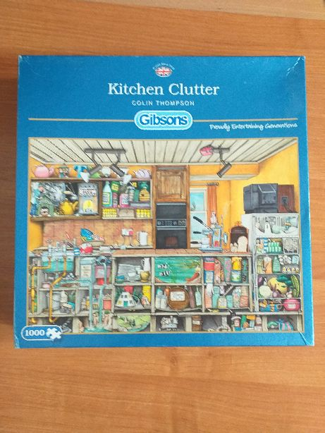 Puzzle Gibsons 1000 elementów Colin Thompson Kitchen Clutter