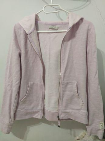 Różowa rozpinana bluza, S