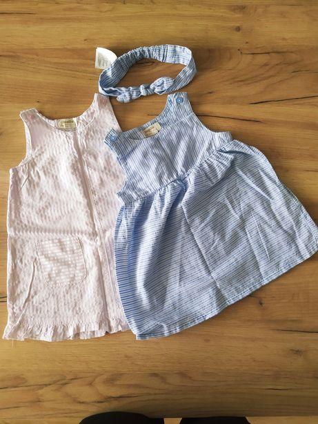 Komplet dwóch sukienek z opaską