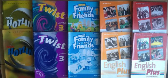 New Hotline, Twist 3,  English Plus, Family and friends.