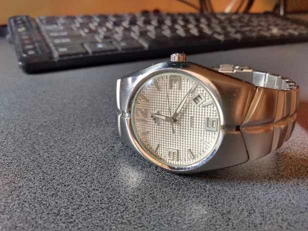 Sportowy stalowy zegarek 10atm Adidas