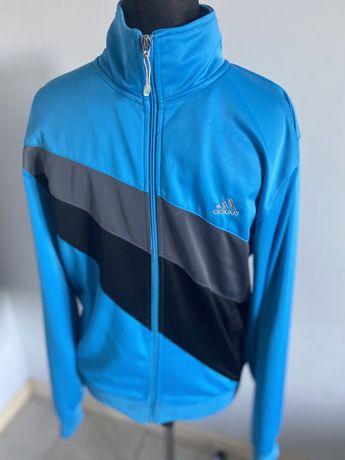 Adidas sportowa bluza r. M/L  Niebiesko- szaro/ czarna vintage, męska.