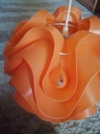 Żyrandol kula pomarańczowy