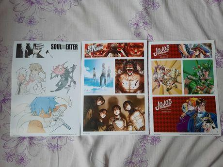 Naklejki manga: atak tytanów, soul eater, jojo