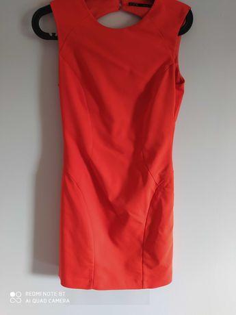 Pomaranczowa sukienka z zary