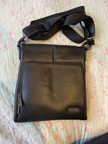 Skorzana torba na ramie Lasocki