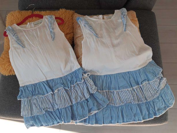Sukienka 116/122 zestaw 2szt.