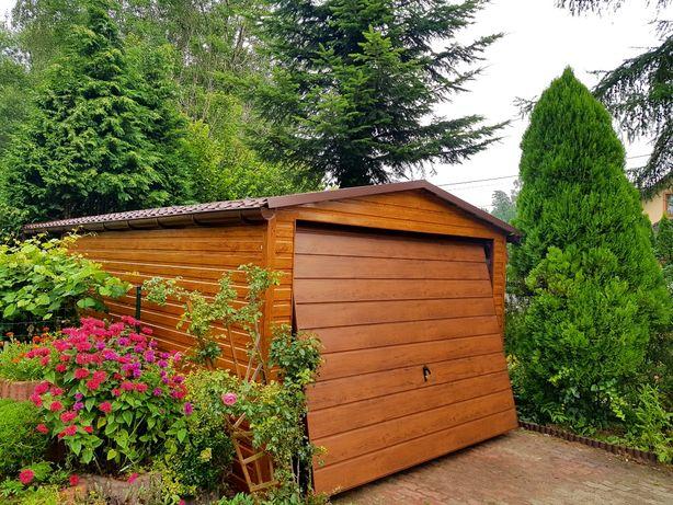Garaże blaszane Drewnopodobne (profil,wzmacniany,mocny)