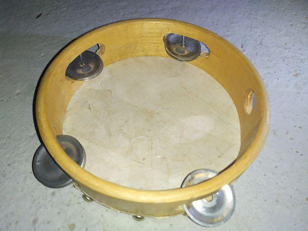 Tamburyno drewniane instrument dla dziecka zabawka