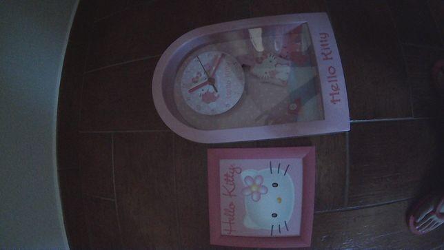 Vendo relógio Hello Kitty + oferta quadro Hello Kitty (Inclui Portes)