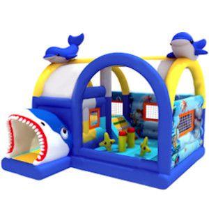 Dmuchaniec, zamek dmuchany, dmuchana zjeżdżalnia, plac zabaw Delfinki