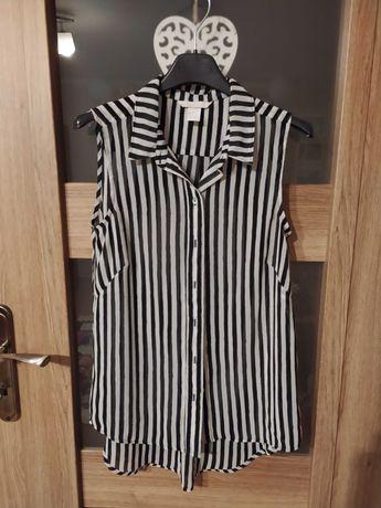 Koszula biało-czarne pasy 32/XXS/4 H&M