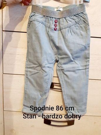 Super eleganckie spodnie 86 cm