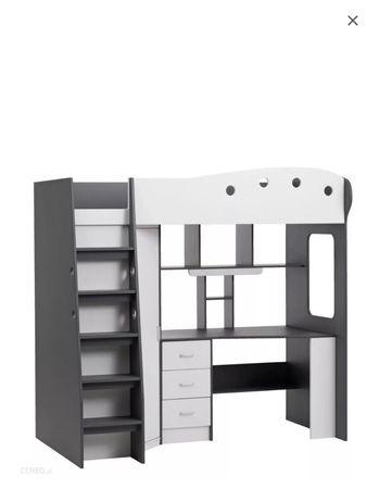 Łóżko piętrowe z biurkiem jysk