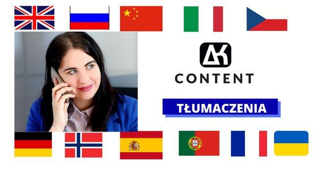 Tłumaczenia na różne języki/ teksty specjalistyczne/ szybka realizacja