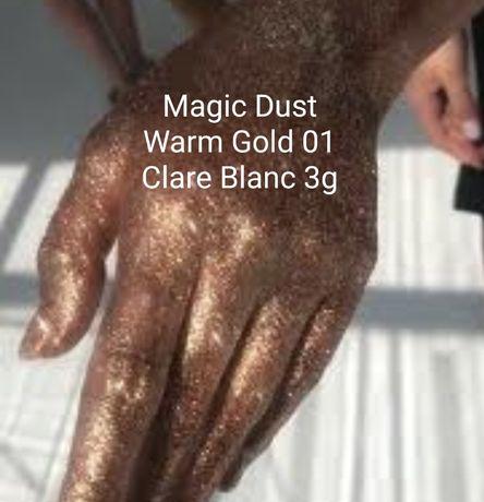 NOWY rozświetlacz Clare Blanc Warm Gold 01 3g