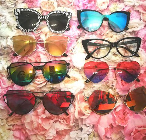 Okulary przeciwsłoneczne Jak nowe Komplet 70zł