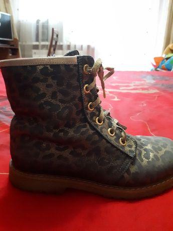 Woopy!!!Турецкие кожаные ортопедические осенние ботинки для девочки