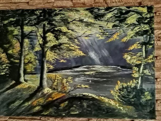 Obraz olejny na płótnie wym 84/58 malarstwa T. Chołyka