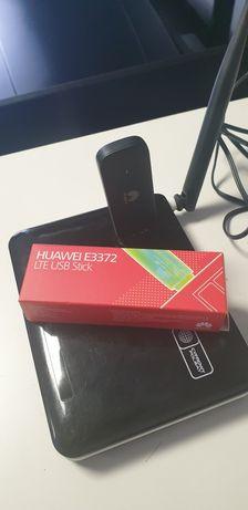 Zestaw Ruter Modem  E3372 LTE  Huawei + DWR 116 + Antena  15db