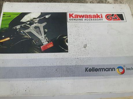 Kawasaki ZX6-R (09-10r) - mocowanie tablicy.Kierunkowskaz tył LED.Nowe