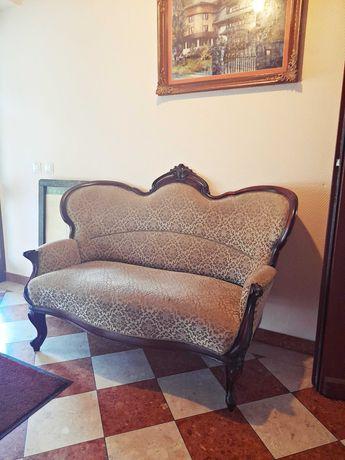 Piękna sofa z litego drewna, LUDWIK, antyk